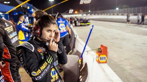 <p>               In this image taken Feb. 11, 2018 and provided by Connexions Sports and Entertainment, NASCAR K&N Pro Series East driver Hailie Deegan stands in the pits at the New Smyrna Speedway in New Smyrna Beach Fla. She wants to be known as the next Deegan, not the next Danica. But for up-and-coming stock car driver Hailie Deegan, it's proving easier to distance herself from her motocross icon of a father, Brian Deegan, than the comparisons to Danica Patrick.  (Chris Garrison/Connexions Sports and Entertainment vis AP)             </p>
