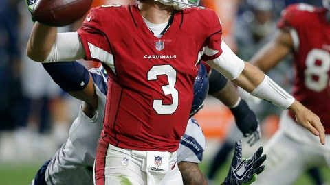 <p>               Arizona Cardinals quarterback Josh Rosen (3) throws against the Seattle Seahawks during the second half of an NFL football game, Sunday, Sept. 30, 2018, in Glendale, Ariz. (AP Photo/Ross D. Franklin)             </p>