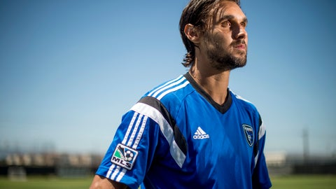 <p>               FILE - In this July 4, 2014 file photo, Chris Wondolowski, speaks with reporters after practicing with the San Jose Earthquakes in San Jose, Calif. Wondolowski, who played in college at tiny, Division II Chico State, is on the cusp of the MLS all-time goals record, held by Landon Donovan, arguably the greatest U.S. player ever. (AP Photo/Noah Berger, File)             </p>