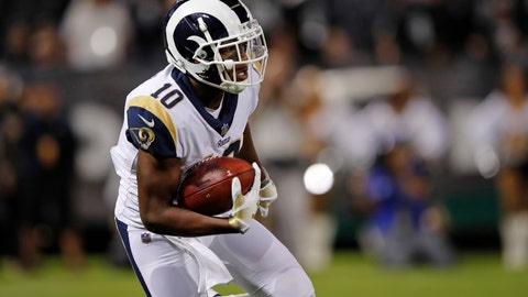<p>               FILE - In this Sept. 10, 2018 file photo Los Angeles Rams wide receiver Pharoh Cooper carries the ball during the first half of an NFL football game against the Oakland Raiders in Oakland, Calif. Cooper will be placed on the Los Angeles Rams' injured reserve list after he severely sprained his ankle in their season opener at Oakland.m Cooper will need surgery to repair his ankle, coach Sean McVay said Wednesday, Sept. 12, 2018. (AP Photo/John Hefti, file)             </p>