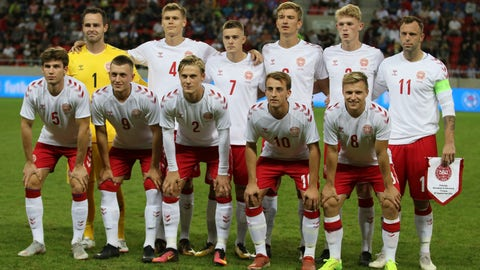 <p>               Denmark's amateur players pose for the team photo prior the friendly soccer match between Slovakia and Denmark in Trnava, Slovakia, Wednesday, Sept. 5, 2018. Every player in Denmark's squad are uncapped following a dispute between Denmark's star players and the Danish Football Association. Up from left: Denmark's Keeper Christoffer Haagh, Christian Bannis, Kasper Kempel, Daniel Nielsen, Nicolai Johansen, Christian Offenberg. Down from left: Mads Priisholm Bertelsen, Oskar Hoybye, Simon Vollesen, Rasmus Gaudin, Rasmus Johansson. (AP Photo/Ronald Zak)             </p>