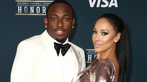 <p>               FILE - In this Feb. 4, 2017, file photo, LeSean McCoy of the Buffalo Bills, left, and Delicia Cordon arrive at the 6th annual NFL Honors at the Wortham Center in Houston. Lawyers for LeSean McCoy have asked a judge in Georgia to throw out a lawsuit filed by the Buffalo Bills running back's former girlfriend that accuses him of failing to protect her from a violent home invasion. The lawsuit filed last month by Delicia Cordon alleges that McCoy failed to protect her after she was bloodied, beaten and had $133,000 worth of jewelry stolen by an intruder at a home McCoy owns in Milton, just outside Atlanta. (Photo by John Salangsang/Invision for NFL/AP Images, File)             </p>