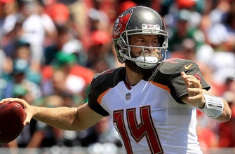 Ryan Fitzpatrick connects on two 75-yard touchdowns for the Buccaneers
