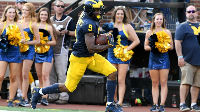 Michigan eviscerates Nebraska for a nifty punt return TD as the Wolverines win 56-10