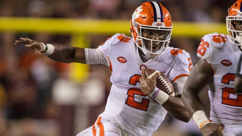 FALL GUYS: Kelly Bryant/Trevor Lawrence, Clemson QBs