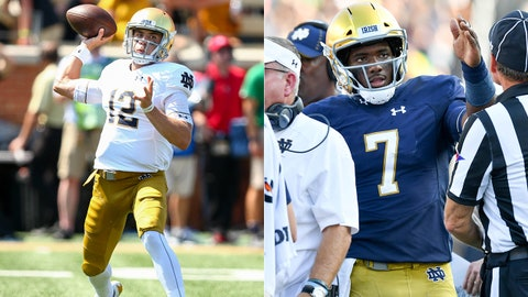 FALL GUYS: Notre Dame's QBs