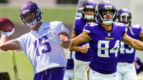 Brandon Zylstra & Chad Beebe, Vikings receivers (⬆ UP)