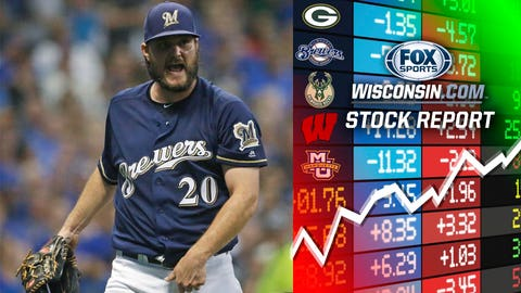 Wade Miley, Brewers pitcher (⬆ UP)