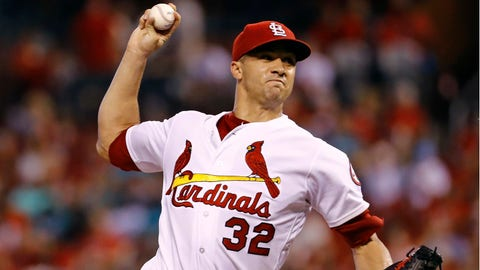 St. Louis Cardinals starting pitcher Jack Flaherty throws during the first inning of a baseball game against the Los Angeles Dodgers Friday, Sept. 14, 2018, in St. Louis. (AP Photo/Billy Hurst)