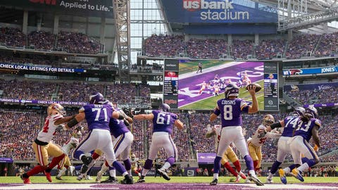 Determined Kirk Cousins has victorious Vikings debut vs. 49ers