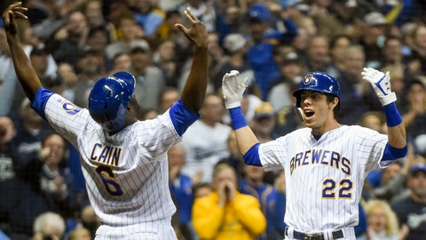 Christian Yelich still chasing NL Triple Crown Monday