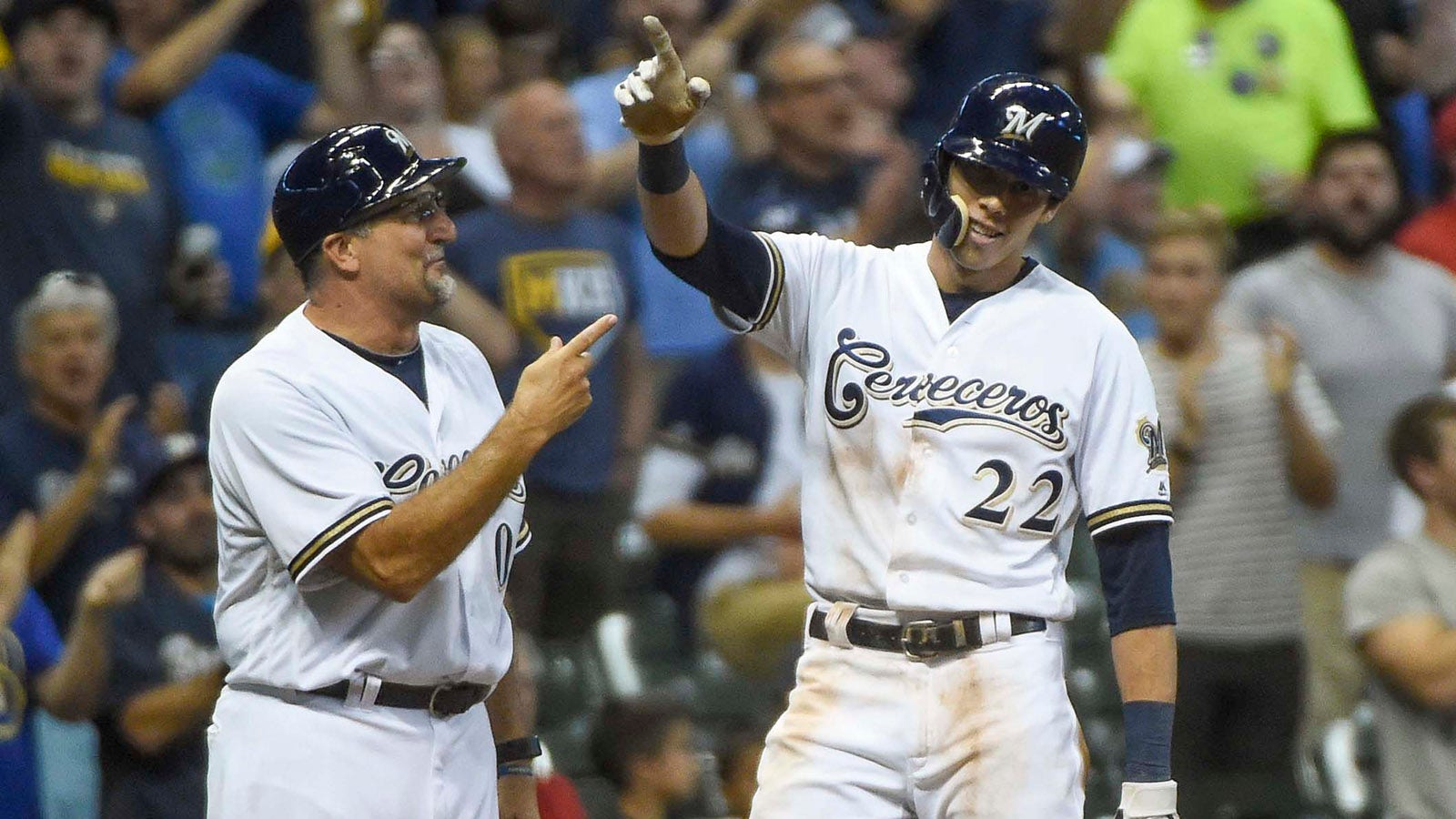 outlet store 05306 23af0 StaTuesday: Brewers' Yelich makes a little history with ...