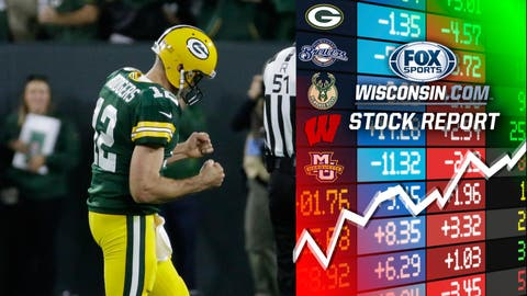 Aaron Rodgers, Packers quarterback (↑ UP)