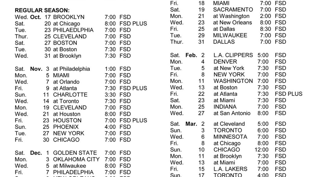 photo relating to Detroit Pistons Printable Schedule referred to as Pistons telecast agenda FOX Sporting activities