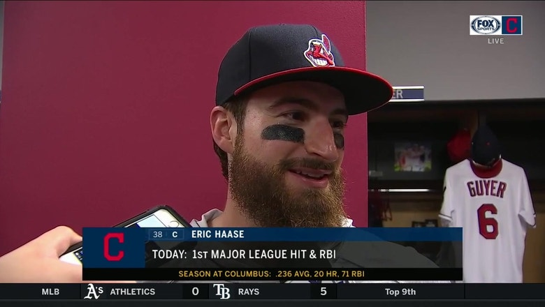 Eric Haase reflects on getting his first major league hit and RBI