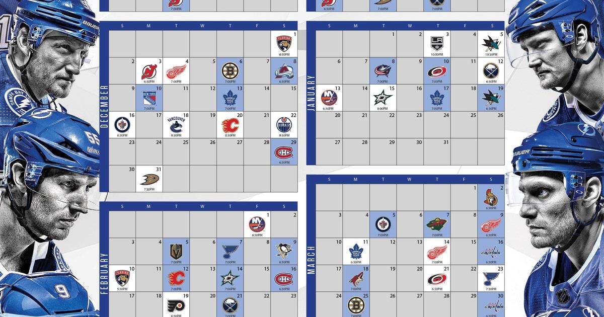 photograph about Tampa Bay Lightning Printable Schedule titled nhl tampa bay lightning plan