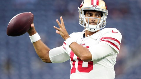 San Francisco - Jimmy Garoppolo - 26 - 11/2/1991