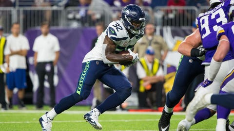 SIT: Chris Carson, RB, Seahawks: