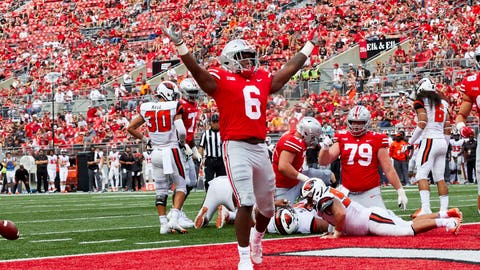 4. Ohio State Buckeyes (1398 Points - 1 First Place Vote)