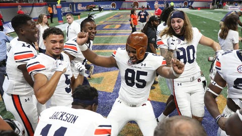 7. Auburn Tigers (1219 Points)