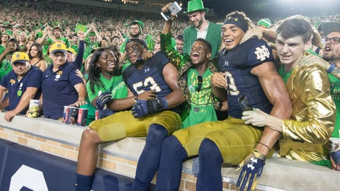 8. Notre Dame Fighting Irish (1077 Points)