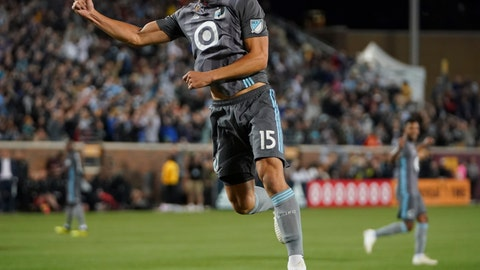 <p>               FILE - In this Sept. 22, 2018 file photo, Minnesota United defender Michael Boxall (15) celebrates after scoring a goal against the Portland Timbers in the first half of an MLS soccer match in Minneapolis. Minnesota United FC has sold more than 50,000 tickets for the final MLS home game at TCF Bank Stadium, before the Loons move to a new venue across the river next season.   (Aaron Lavinsky /Star Tribune via AP, File)             </p>
