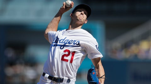 <p>               Los Angeles Dodgers starting pitcher Walker Buehler throws against the Colorado Rockies during the first inning of a tiebreaker baseball game, Monday, Oct. 1, 2018, in Los Angeles. (AP Photo/Jae C. Hong)             </p>