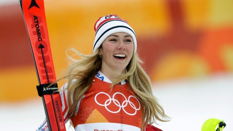 <p>               FILE - In this Thursday, Feb. 22, 2018 file photo,United States' Mikaela Shiffrin smiles after competing in the women's combined slalom at the 2018 Winter Olympics in Jeongseon, South Korea. Turns out, even two-time World Cup overall champion Mikaela Shiffrin gets nervous in the start gate. It first struck her two years ago and hit her again before the Olympic slalom race last winter when she finished fourth. (AP Photo/Michael Probst, File)             </p>