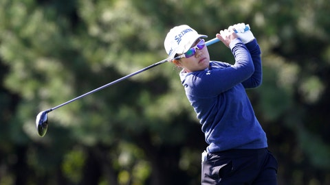 <p>               Nasa Hataoka of Japan watches her shot on the second hole during the first round of the LPGA KEB Hana Bank Championship at Sky72 Golf Club in Incheon, South Korea, Thursday, Oct. 11, 2018. (AP Photo/Ahn Young-joon)             </p>
