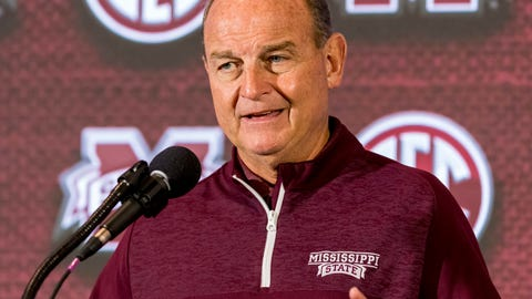 <p>               Mississippi State head coach Vic Schaefer speaks with the media during the Southeastern Conference women's NCAA college basketball media day, Thursday, Oct. 18, 2018, in Birmingham, Ala. (AP Photo/Vasha Hunt)             </p>