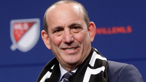 <p>               FILE - In this Dec. 20, 2017, file photo, Major League Soccer commissioner Don Garber smiles during a press conference in Nashville, Tenn.,  where it was announced that Nashville was awarded an MLS franchise. Now nearing two decades at the helm of MLS, Garber guides an ever-expanding league that is set to grow to 26 teams by 2020. Garber will be enshrined in the National Soccer Hall of Fame this weekend. (AP Photo/Mark Humphrey, File)             </p>