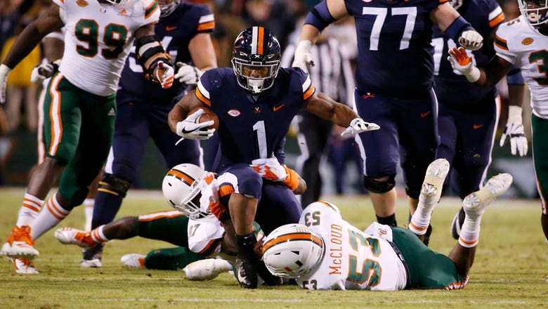 No. 16 Hurricanes' offense sputters in 16-13 loss to Virginia