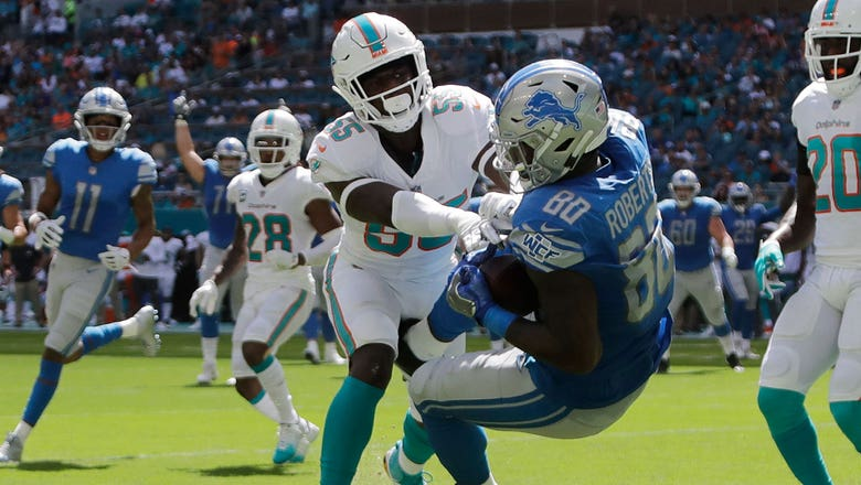 Dolphins can't stop Lions' rushing attack, drop first home game of season 32-21