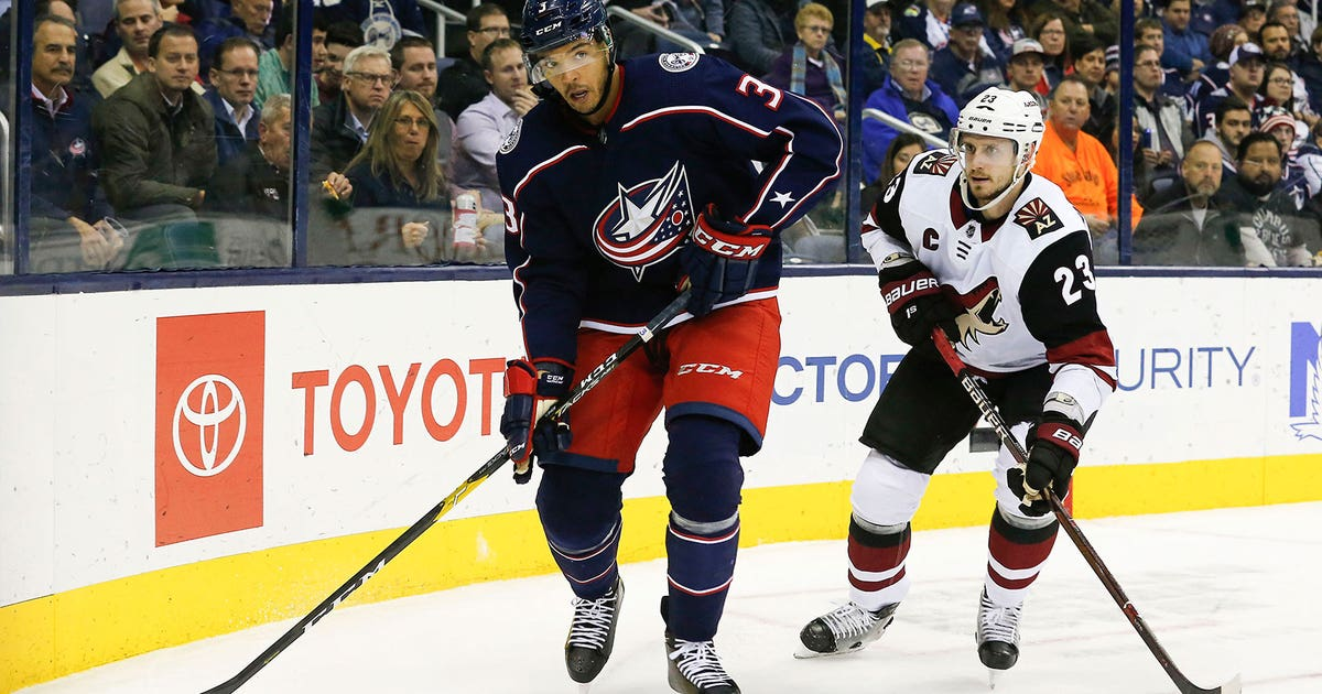 270a5a3cd1d Jones  season debut spoiled by Fischer s hat trick as Blue Jackets fall 4-1  to Coyotes