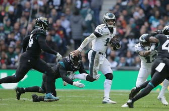 Jaguars unable to corral Carson Wentz, lose 24-18 to Eagles in London