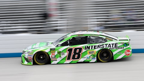 <p>               Kyle Busch drives during practice for the NASCAR Cup series auto race, Saturday, Oct. 6, 2018, at Dover International Speedway in Dover, Del. (AP Photo/Nick Wass)             </p>