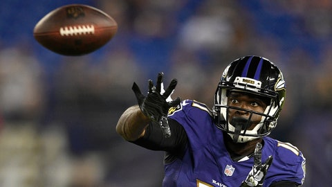 <p>               FILE - In this Aug. 9, 2018, file photo, Baltimore Ravens wide receiver Breshad Perriman prepares to catch a pass in the second half of a preseason NFL football game against the Los Angeles Rams in Baltimore. The Cleveland Browns are signing free agent Breshad Perriman to address their desperate situation at wide receiver. Perriman worked out for Cleveland on Saturday, a day after rookie Derrick Willies broke his collarbone during practice. (AP Photo/Nick Wass, File)             </p>
