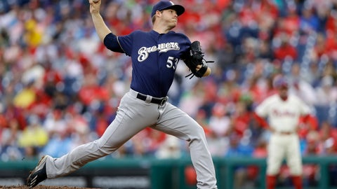 <p>               FILE - In this June 10, 2018, file photo, Milwaukee Brewers' Brandon Woodruff pitches during the third inning of a baseball game against the Philadelphia Phillies, in Philadelphia.  Woodruff not only made the Milwaukee Brewers' playoff roster, but he's starting Game 1 of the National League Division Series against the Colorado Rockies.(AP Photo/Matt Slocum, File)             </p>