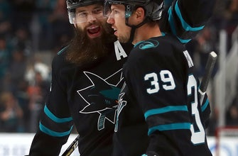 Logan Couture has hat trick to lead Sharks past Sabres 5-1