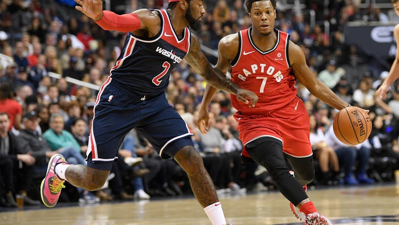 With no Leonard, Lowry leads Raptors past Wizards 117-113