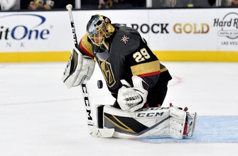 Fleury ties for 10th on NHL wins list, Vegas tops Sabres 4-1