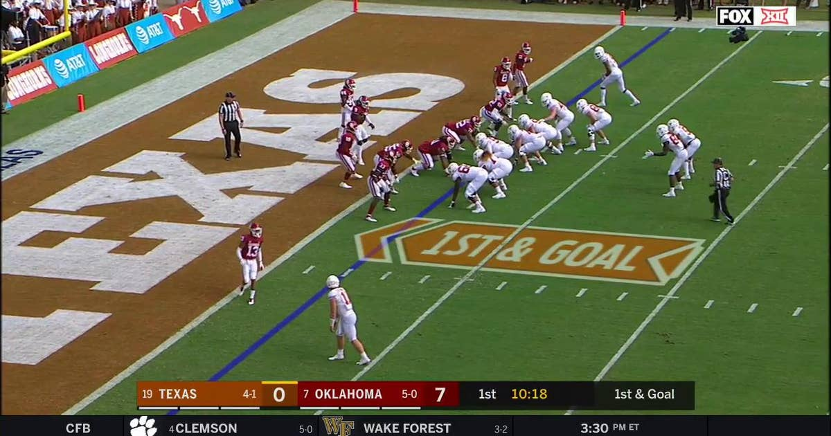 Highlights Longhorns Use Trick Play For First Score Vs Oklahoma Red River Showdown Fox Sports