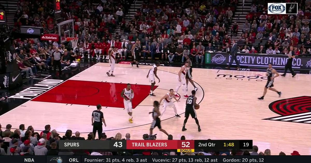 HIGHLIGHTS: DeMar DeRozan finishes in the paint | San Antonio Spurs at Portland Trail Blazers