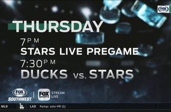 Dallas Stars will host the Anaheim Ducks on Thursday | Stars Live