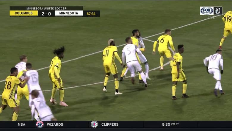United's Calvo scores twice vs. Columbus