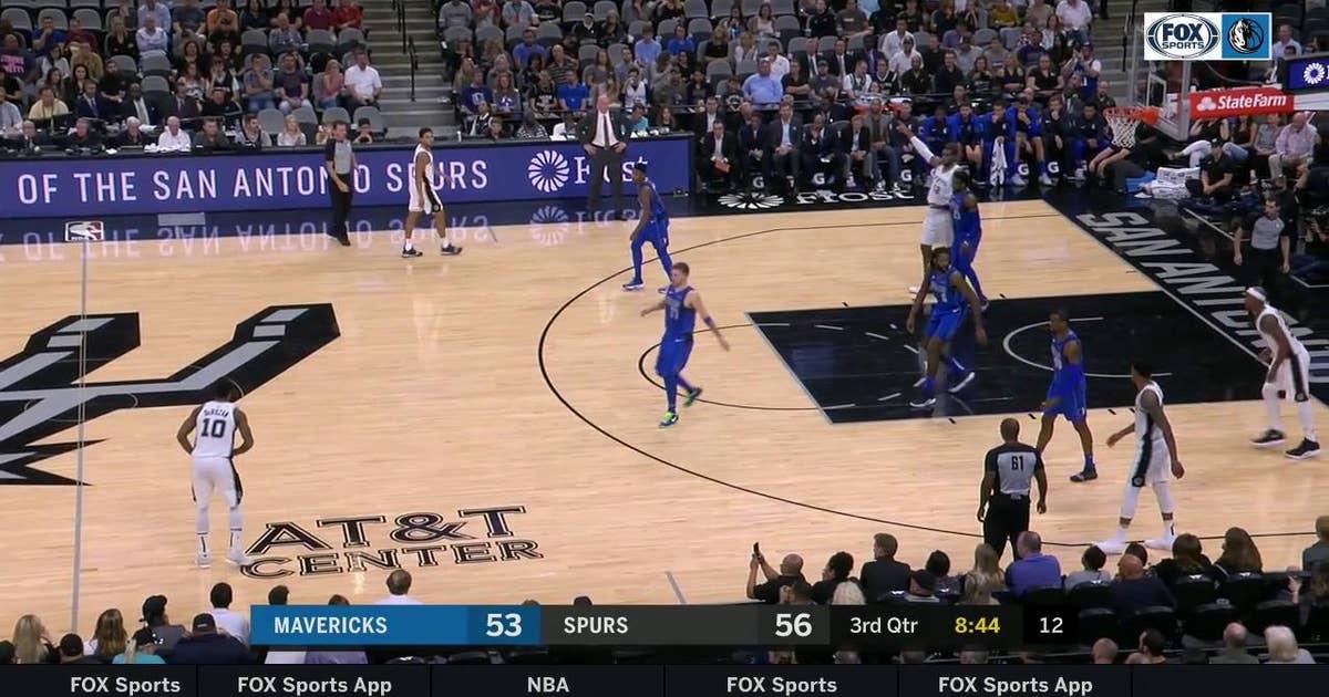 HIGHLIGHTS: DeAndre Jordan comes up with HUGE Block on Aldridge | Dallas Mavericks at San Antonio Spurs