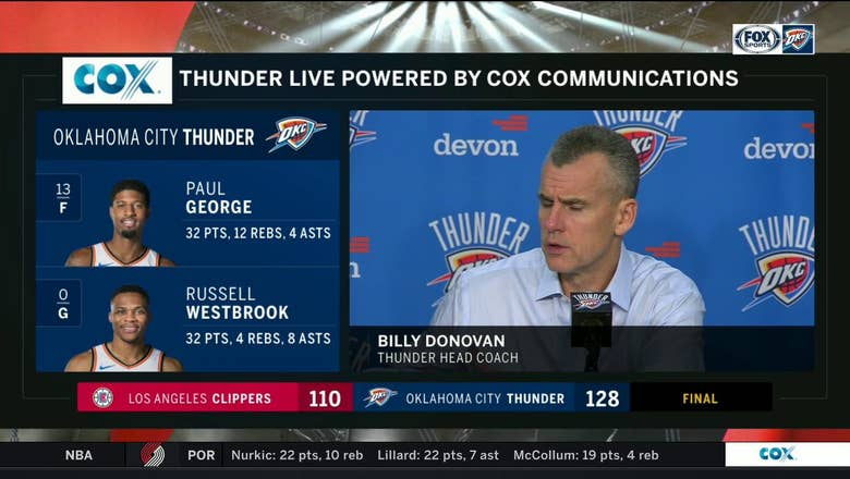 Billy Donovan on Thunders 128-110 win over the LA | Thunder Live