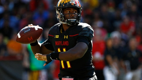 <p>               FILE - In this Sept. 23, 2017, file photo, Maryland quarterback Kasim Hill throws to a receiver in the first half of an NCAA college football game against Central Florida in College Park, Md. Maryland interim coach Matt Canada has used both his quarterbacks in all five games this season, jockeying between Kasim Hill and Tyrrell Pigrome in an unyielding effort to get more production from an offense that has relied far too heavily on the run. (AP Photo/Patrick Semansky, File)             </p>