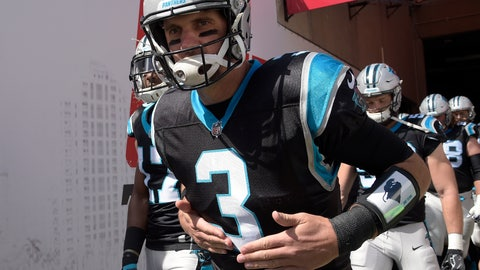<p>               FILE - In this Oct. 29, 2017, file photo, Carolina Panthers quarterback Derek Anderson (3) jogs out of the tunnel and onto the field before an NFL football game against the Tampa Bay Buccaneers, in Tampa, Fla. The Buffalo Bills have signed quarterback Derek Anderson to add veteran experience and have him serve as a mentor for rookie starter Josh Allen. The Bills announced the signing Tuesday, Oct. 9, 2018, a day after Anderson visited the team's facility. He has a 20-27 career record over 12 NFL seasons, and spent the past seven serving as Cam Newton's backup in Carolina. (AP Photo/Phelan M. Ebenhack, File)             </p>