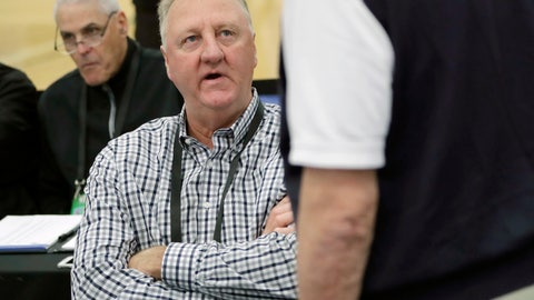 <p>               FILE - In this May 17, 2018, file photo, basketball Hall of Famer Larry Bird attends the NBA draft combine in Chicago. A museum is being planned to tell the story of Bird, an Indiana native. Indiana Gov. Eric Holcomb announced Saturday, Oct. 20, 2018, that the museum will be located in a new convention center that's being built in Terre Haute in western Indiana. (AP Photo/Charles Rex Arbogast, File)             </p>